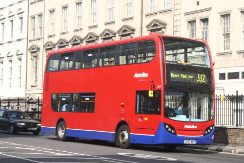 Metroline Enviro400 TE 835 (LK57 AXP) at Paddington, 14th October 2007